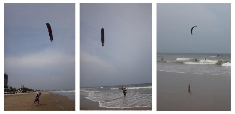 en moto por la playa de Vietnam kite lessons Vietnam