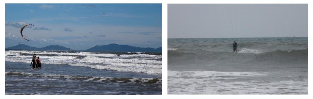Vietnam wave spot kitesurfing