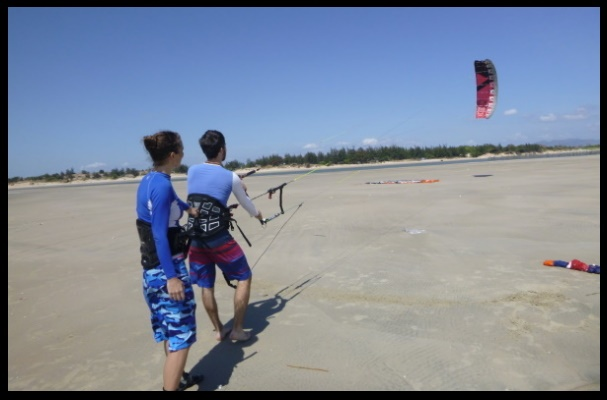 2 plenty free space on Vung Tau kite spot
