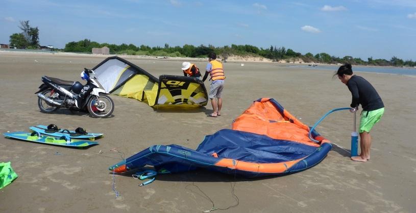 kiters in Vung tau la escuela de kite en Vietnam