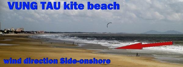 kiteschool in Vung Tau wind in Vietnam, learn kitesurfing beginners kite course November
