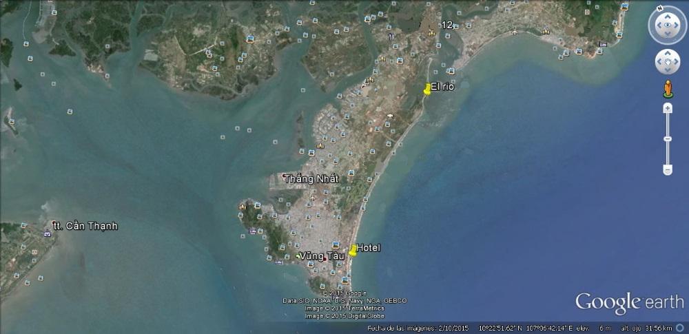 Vung Tau City Kitesurfing lektioner Vietnam Karta över floden platt vattenriket
