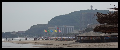 Christ statue Vung Tau walk kitesurfing Vietnam learn in November