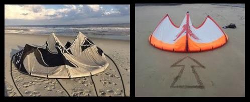 Forberedelse av kite og forbindelsene til linjene Vietnam kitesurfing