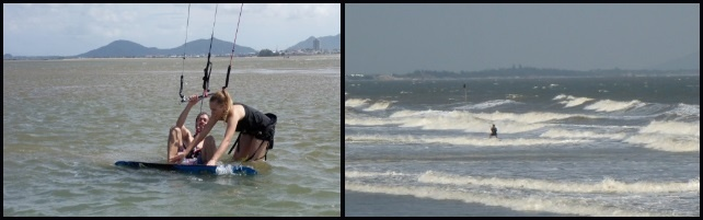 kitesurfing lessons vietnam both flat water and riding in waves