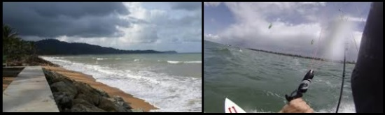 Należy unikać złych warunków pogodowych, szczególnie podczas nauki kitesurfingu