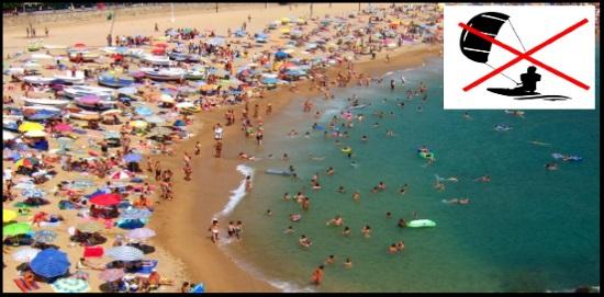 7 Nie kitesurfuj się na bardzo ruchliwej plaży - nigdy nie narażaj użytkowników plaży na niebezpieczeństwo