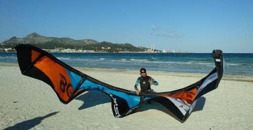1 tube kite Flysurfer kitesurfing lessons Vietnam