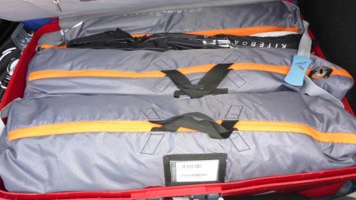3 flysurfer kite foils 15-12 and 8 meters