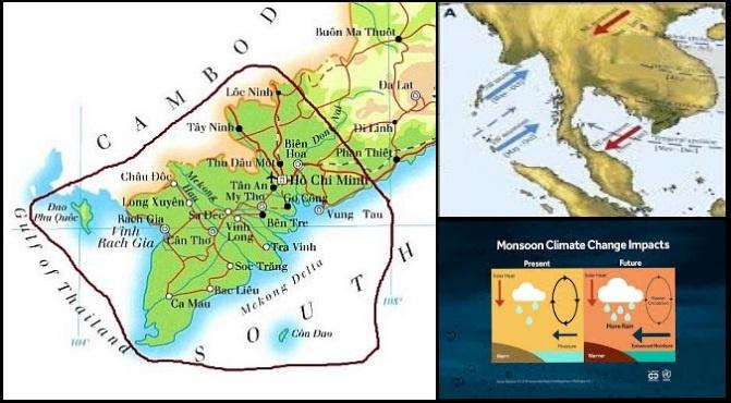 la cause de la mousson d'hiver et le cours de kitesurf au vietnam