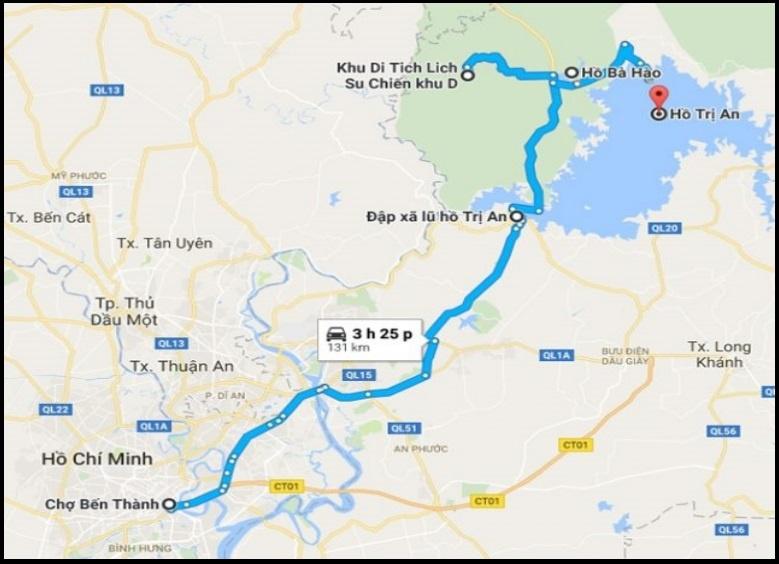 lago a 65 kms de Ho Chi Minh city