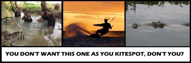 9 méfiez-vous où vous choisissez de kitesurf
