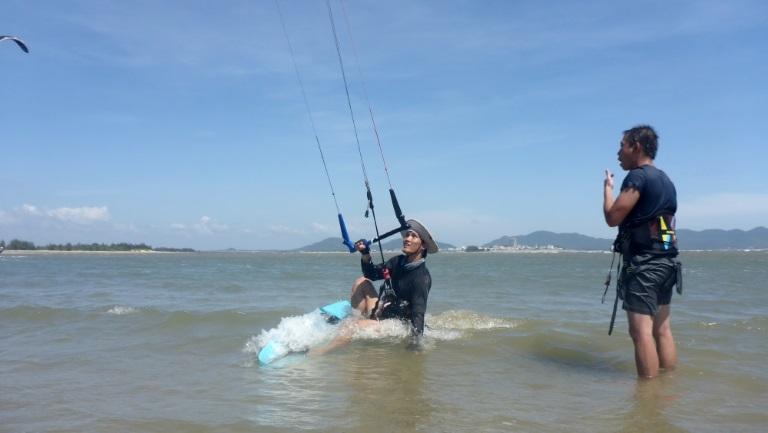 kite spot agua plate a lécole de kitesurf a Vung Tau