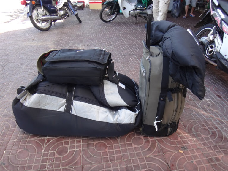 kitesurfing luggage - Travel wisely