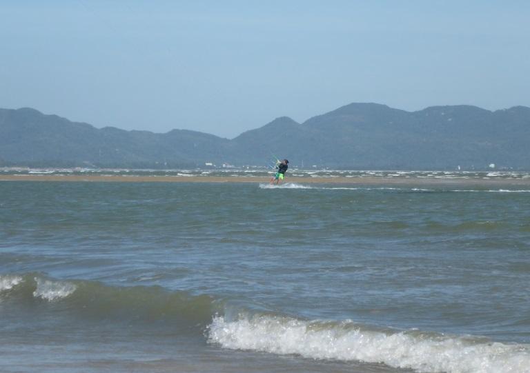 Während unserer Kitesurf-Sessions im Dezember in Vung Tau Kitespot