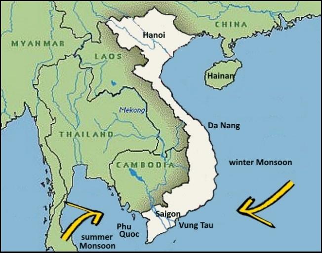 Winter Monsunwinde und Kiteschule Kitesurfen-lessons -Vietnam