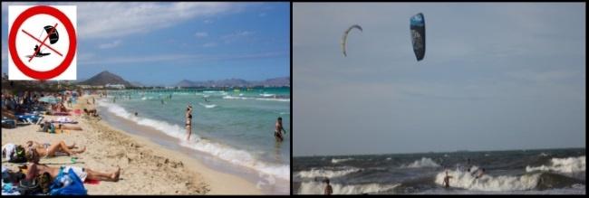 Bereite deinen Kite nicht auf andere Strandbenutzer vor