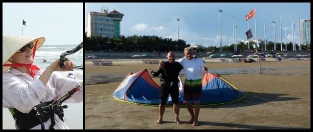 nos étudiants de kitesurf se tiennent sur leurs planches