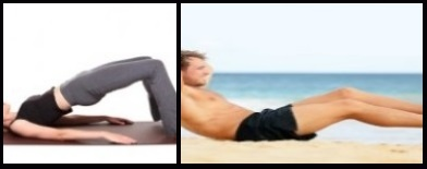 5 lift your hips and also bent your upper body