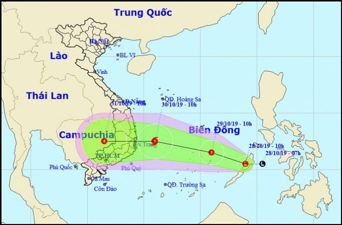 tropical storm heading to central Vietnam
