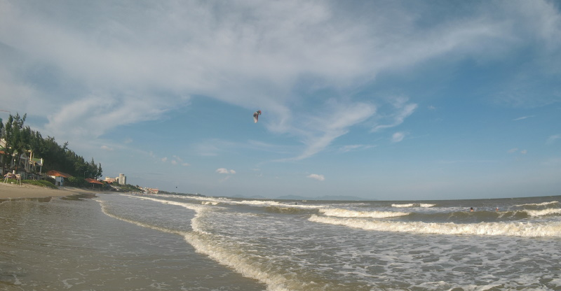 second week Oct - kitesurfing in Vung Tau in 20 knots
