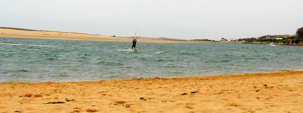 la derecha del spot kitesurf en Marruecos