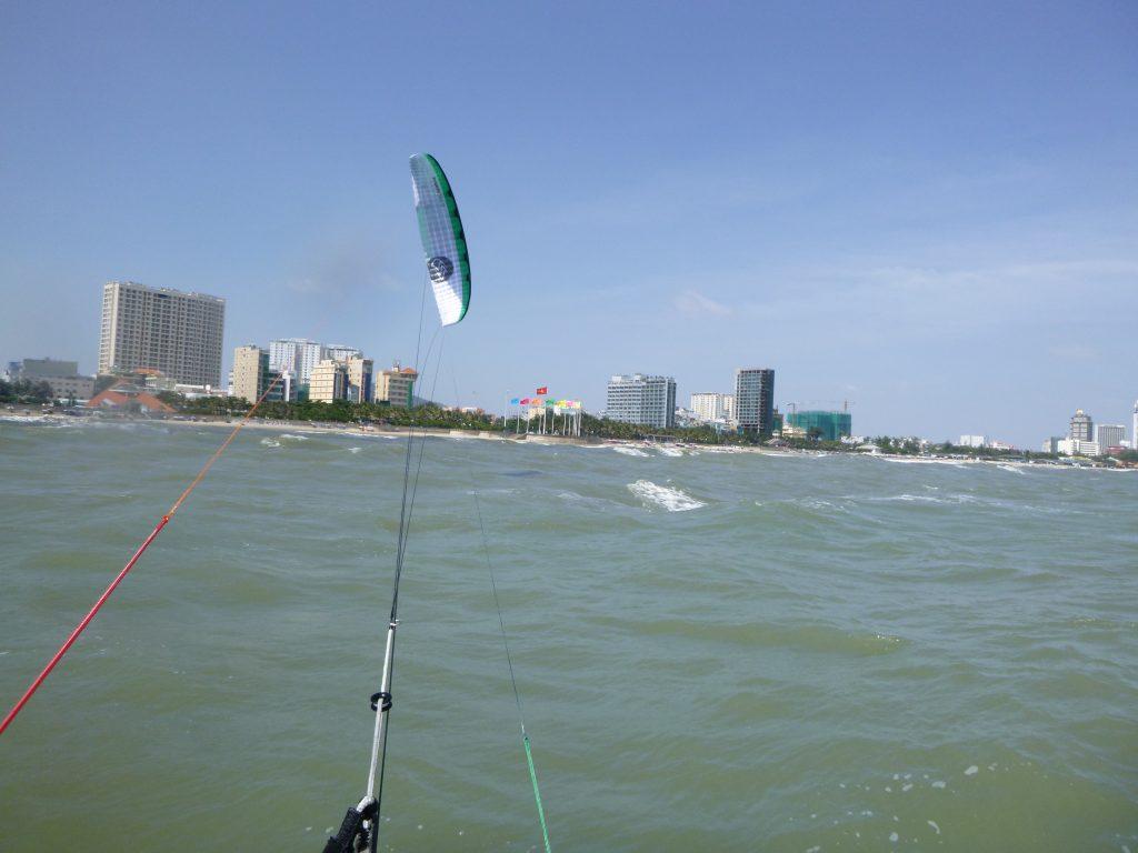 nearest kitesurfing spot to Ho Chi Minh city - Vung Tau beach