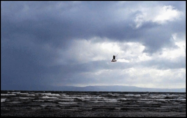 lifted by the kite involuntarily - avoid kitesurfing in stormy weather