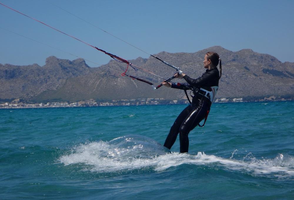 2 up-in-the-kiteboard erste wasserstart