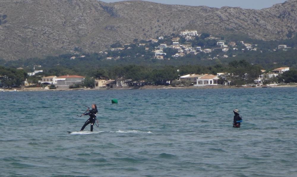 3 erste meters kitesurfen