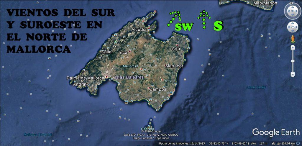 1 viento sur y sur oeste en Mallorca