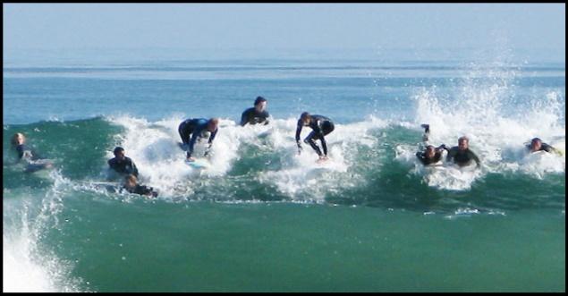 10 todos a una no, surfing y sus reglas