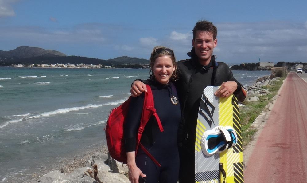 19 clase de kitesurf en Pollensa la escuela mallorca kiteschool com