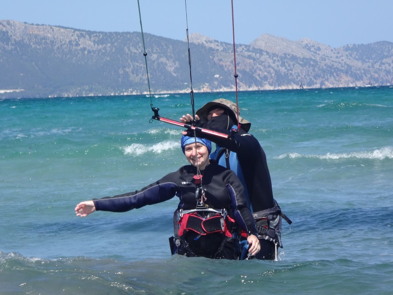 5 curso Polaco kitesurfing Mallorca