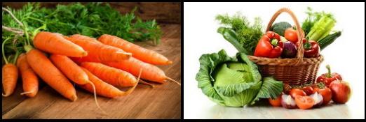 5 frutas y verduras bueno para la vista