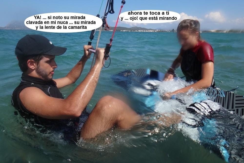 1 kitesurfing in Mallorca - kite lessons in Vietnam dos alumnos