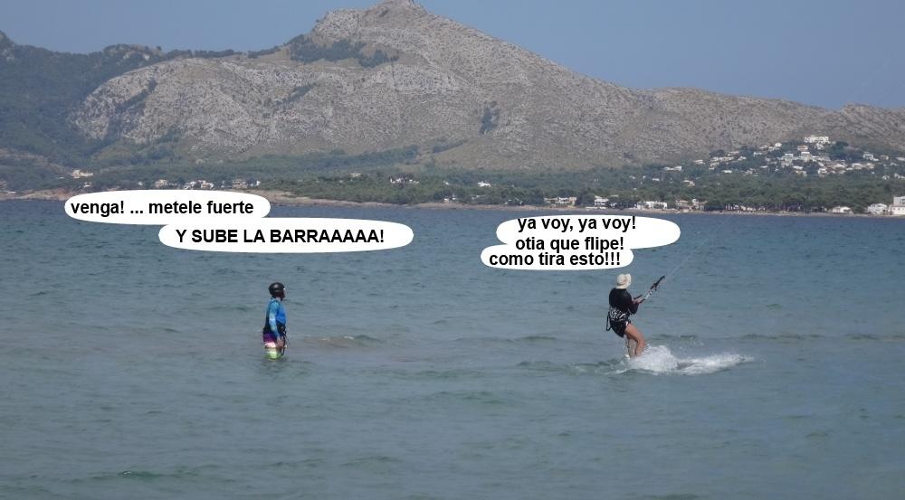 12 kitesurfing in Mallorca - kite lessons in Vietnam se levanta en la tabla