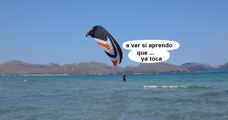 2 kitesurfing lessons vietnam - kite club AAN Mallorca - un alumno