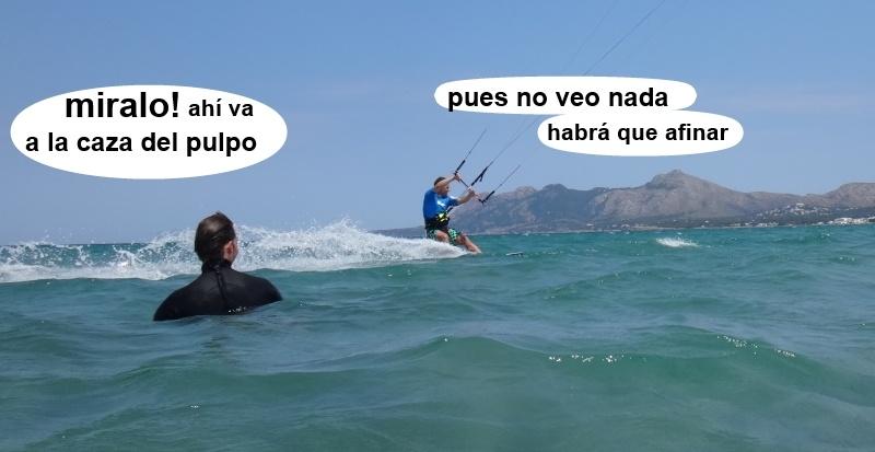 22 kitesurfing lessons vietnam - kite club AAN Mallorca - a la caza del pulpo