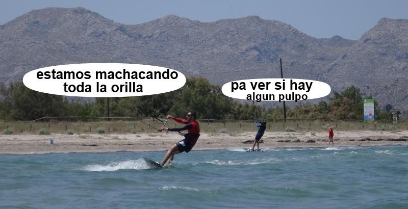 26 kitesurfing lessons vietnam - kite club AAN Mallorca - machacando la orilla